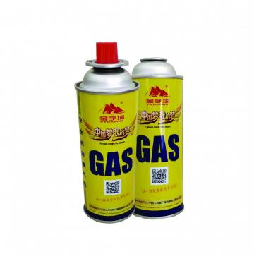 round shape portable butane gas cartridge empty 220g and metal tin cans