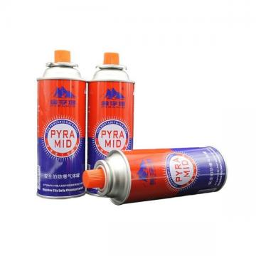 Strong quality tinplate aerosol straight butane gas can refillable